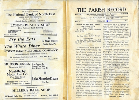 Parish record pg2+3