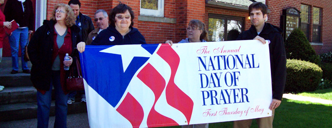 National Day of Prayer gathering at Holy Cross