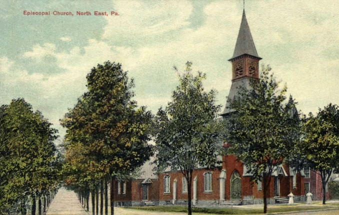 A view of the church from a painted picture postcard, circa 1910